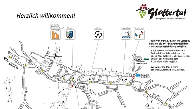 Anfahrt Besucher TV-Schwarzwaldklinik