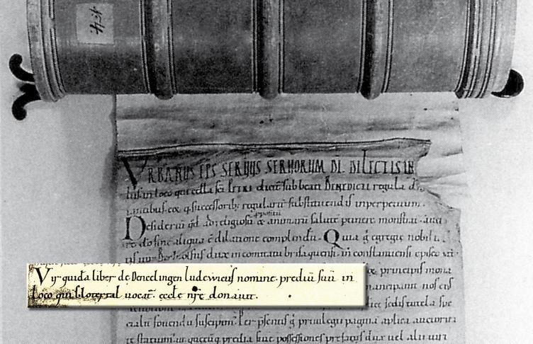 Im Rotulus Sanpetrinus, einem über 6 Meter langen Pergamentrodel im Generallandesarchiv Karlsruhe, findet sich die erste schriftliche Erwähnung des Glottertales, wie in dem Auszug daraus zu lesen ist.